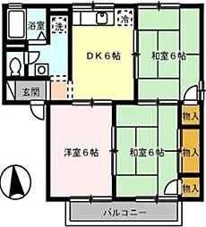 グリーンハイツ B[1階]の間取り