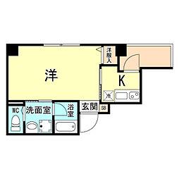 神戸市海岸線 ハーバーランド駅 徒歩10分の賃貸マンション 7階1Kの間取り