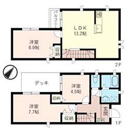 [一戸建] 埼玉県新座市馬場3丁目 の賃貸【/】の間取り