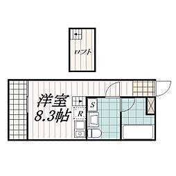 THE・ROOM新検見川(ザ・ルームシンケミガワ)[1階]の間取り