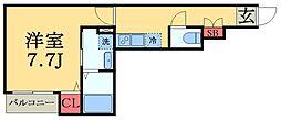 JR総武本線 都賀駅 4.4kmの賃貸アパート 1階1Kの間取り