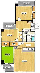 アドバンテージ百道[4階]の間取り