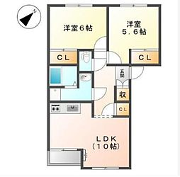 レジデンスK 1[2階]の間取り