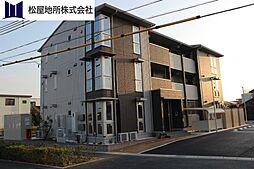 愛知県豊橋市西幸町字笠松の賃貸アパートの外観