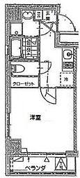 パウロニアバレーテイク4西横浜[704号室]の間取り