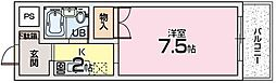 大阪府枚方市星丘1丁目の賃貸マンションの間取り