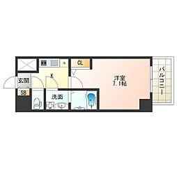 JR大阪環状線 福島駅 徒歩13分の賃貸マンション 2階1Kの間取り