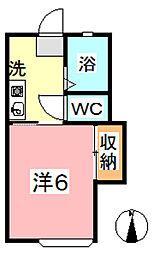 エクセル亀山[101号室]の間取り