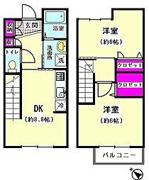 [テラスハウス] 東京都大田区南馬込5丁目 の賃貸【/】の間取り