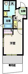 東急目黒線 武蔵小山駅 徒歩5分の賃貸マンション 1階1Kの間取り