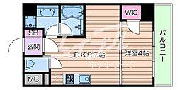 Osaka Metro御堂筋線 江坂駅 徒歩7分の賃貸マンション 8階1LDKの間取り