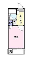 カーサ東中沢[204c3号室]の間取り