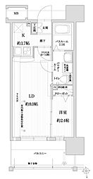 福岡市地下鉄空港線 赤坂駅 徒歩9分の賃貸マンション 6階1LDKの間取り