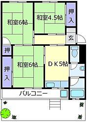 北野田グリーンハイツC棟[1階]の間取り