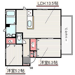兵庫県神戸市西区玉津町出合の賃貸アパートの間取り