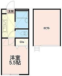 ソリッド中野島[2階]の間取り