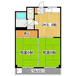エーデルハイツ[2階]の間取り