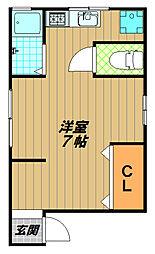 本庄町ハイツ(アシケンハイツ)[2階]の間取り