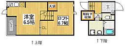 CB箱崎アンジュ2[2階]の間取り