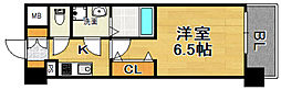 おおさか東線 JR淡路駅 徒歩2分の賃貸マンション 1階1Kの間取り