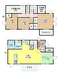 [一戸建] 福岡県大野城市月の浦5丁目 の賃貸【/】の間取り