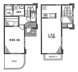 [テラスハウス] 神奈川県川崎市高津区末長4丁目 の賃貸【/】の間取り