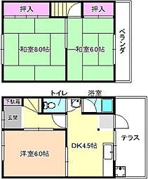 [一戸建] 大阪府枚方市楠葉並木1丁目 の賃貸【/】の間取り