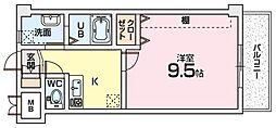 Mプラザ津田駅前十番館〜[6階]の間取り