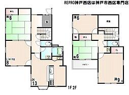 [一戸建] 兵庫県神戸市西区竹の台5丁目 の賃貸【/】の間取り