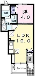 MKガーデンテラス 1階1LDKの間取り