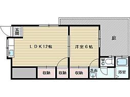 清澄苑[1階]の間取り