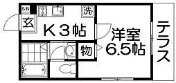 プロム2[1階]の間取り