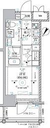 ベルグレード川崎AZ 14階1Kの間取り