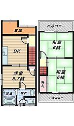 [一戸建] 大阪府堺市北区百舌鳥梅北町5丁 の賃貸【/】の間取り