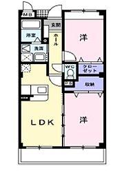 岡山県倉敷市東塚5丁目の賃貸マンションの間取り