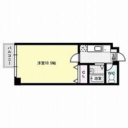 福岡県福岡市博多区古門戸町の賃貸アパートの間取り