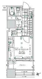 ローレルタワー ルネ浜松町 2階ワンルームの間取り