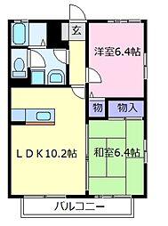 ボヌールハイツ[2階]の間取り