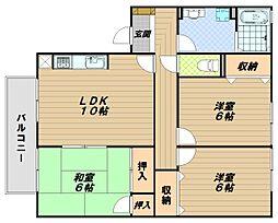 アルパポンテ三番館[2階]の間取り