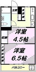 シルキーコーポ[2階]の間取り