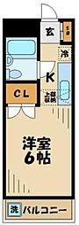 京王相模原線 京王永山駅 バス10分 とちのき公園入口下車 徒歩1分の賃貸マンション 3階1Kの間取り
