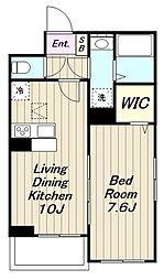 JR南武線 宿河原駅 徒歩10分の賃貸アパート 2階1LDKの間取り