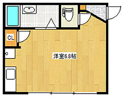 埼玉県川口市鳩ヶ谷本町2丁目の賃貸アパートの間取り