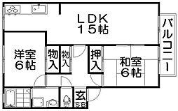 RubanDore[2階]の間取り