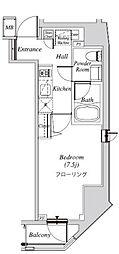 クレセント虎ノ門新橋 9階1Kの間取り