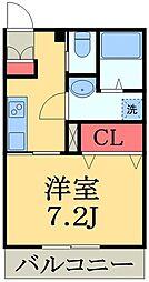 東葉高速鉄道 北習志野駅 徒歩5分の賃貸アパート 1階1Kの間取り