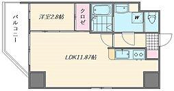 ウインステージ箱崎II[705号室]の間取り