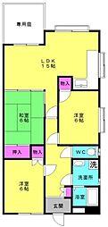 新岸田マンション[102号室]の間取り
