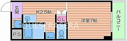 Osaka Metro谷町線 都島駅 徒歩5分の賃貸マンション 4階1Kの間取り