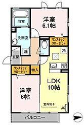 (仮称)D-room梅が丘[2階]の間取り